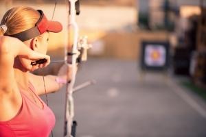 aiming at target